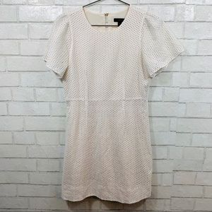J.CREW WOMENS BABY DOLL DRESS WHITE CROTCHET 6P